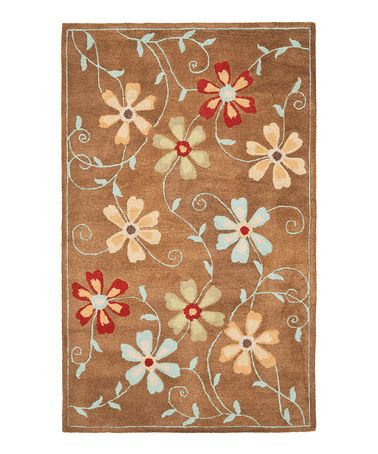 Take a look at this Camel Fleur Blossom Rug by Safavieh Rugs on #zulily today!