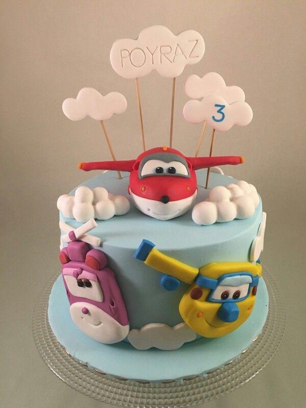 Super Wings Birthday Cake Motivtorten Pinterest
