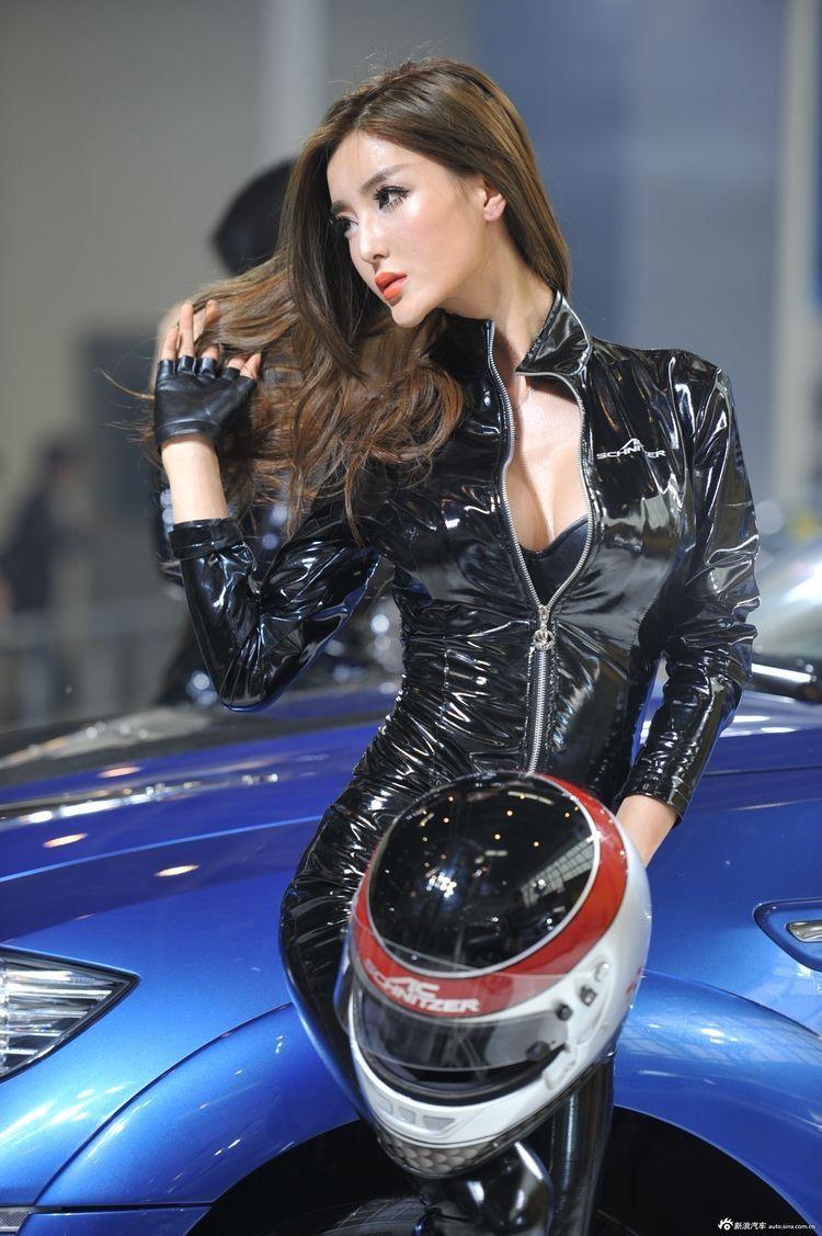Yancy butler pictures to pin on pinterest - Grid Girls Latex Asia Girl Fingerless Gloves Helmet Spandex Korea Oriental Sexy Women