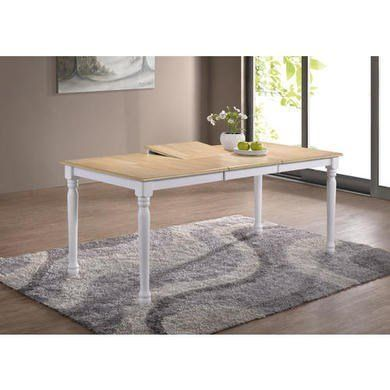 Rhode Island Rectangular Dining Table Extendable Whitenatural Custom Small Rectangular Kitchen Table Design Ideas