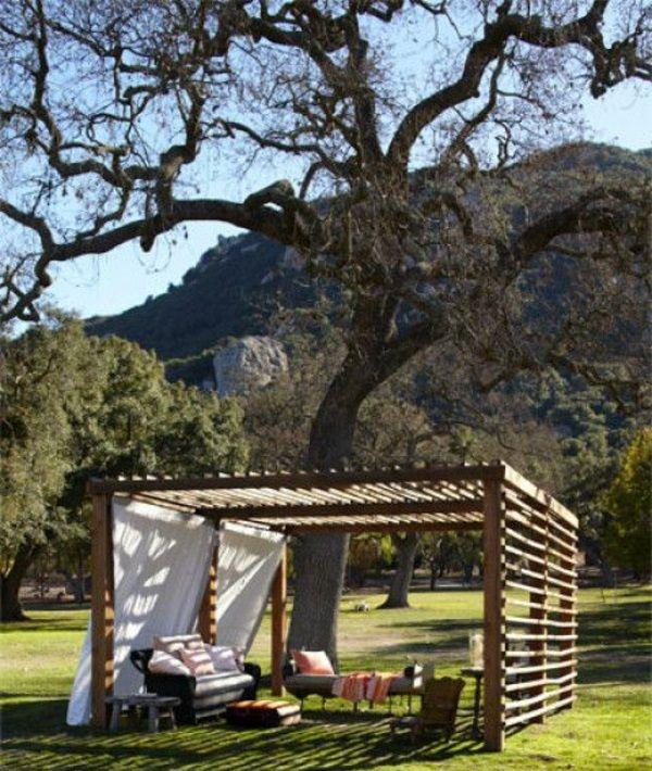 50 Gartenlauben aus Holz - Gartenpavillon selber bauen - gartenpavillon selber bauen