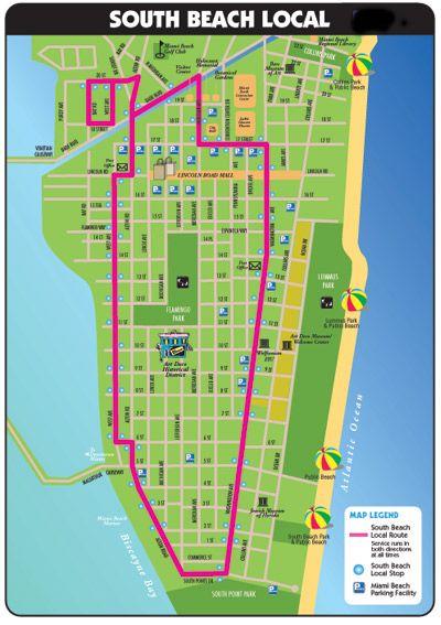 South Beach Bus Map Miami Beach Public Transportation South Beach South Beach Miami Beach Local