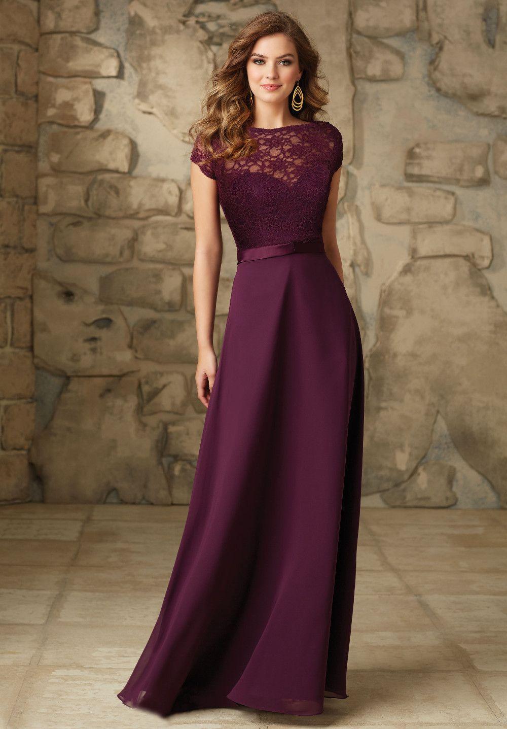 Vestidos de madrinha de casamento cor uva
