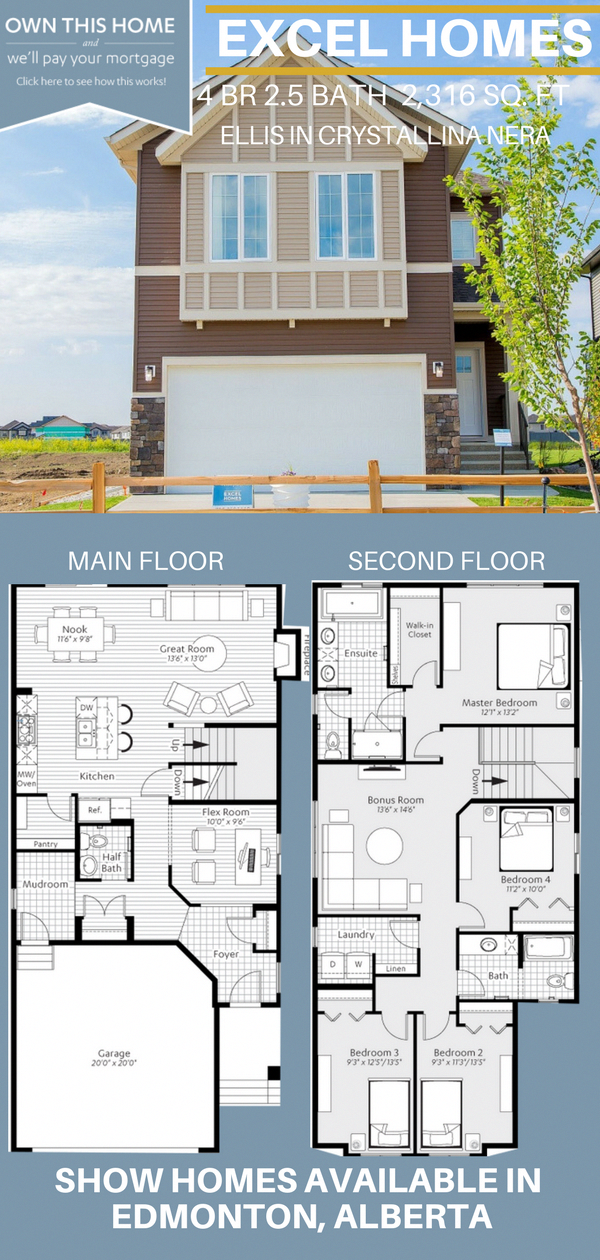 Modern Home Design Modern Home Architecture 2 Story Floor Plan Ellis By Excel Homes In Ed Family House Plans Narrow Lot House Plans House Plans Australia