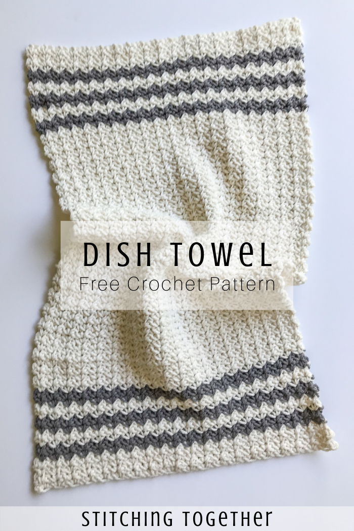 Crochet Country Dish Towel | Stitching Together