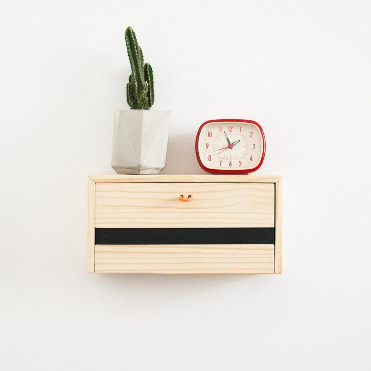 Floating Shelf That Doubles As A Charging Station Wooden Shelveswall Hanging