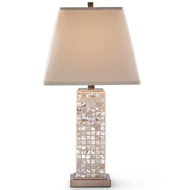 Cindy Crawford Style Mother Of Pearl Table Lamp Jcpenney Lamp Table Lamp Metal Lamp