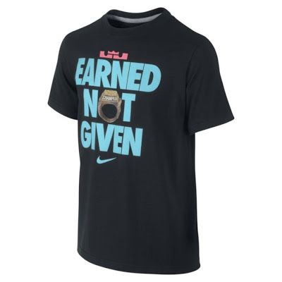 Nike X Lebron Earned Not Given Tee Available In South Beach Colors