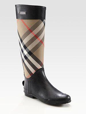 e52f187a8ef8 Burberry Rain Boots ! Yes please!!
