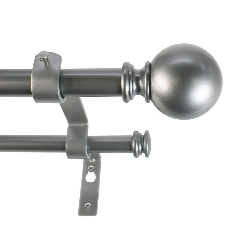 Home Expressions Classic Ball 5 8 In Curtain Rod Double Rod