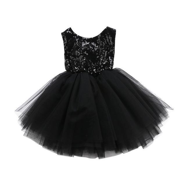 d8c0d7e37c67 Sleeveless Kids Baby Girls Flower Lace Formal Dress Fashion Sequin ...