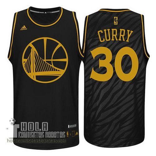 Camisetas Nba Baratas Metales Preciosos Moda Swingman Curry #30 Negro  Golden State Warriors €21.9