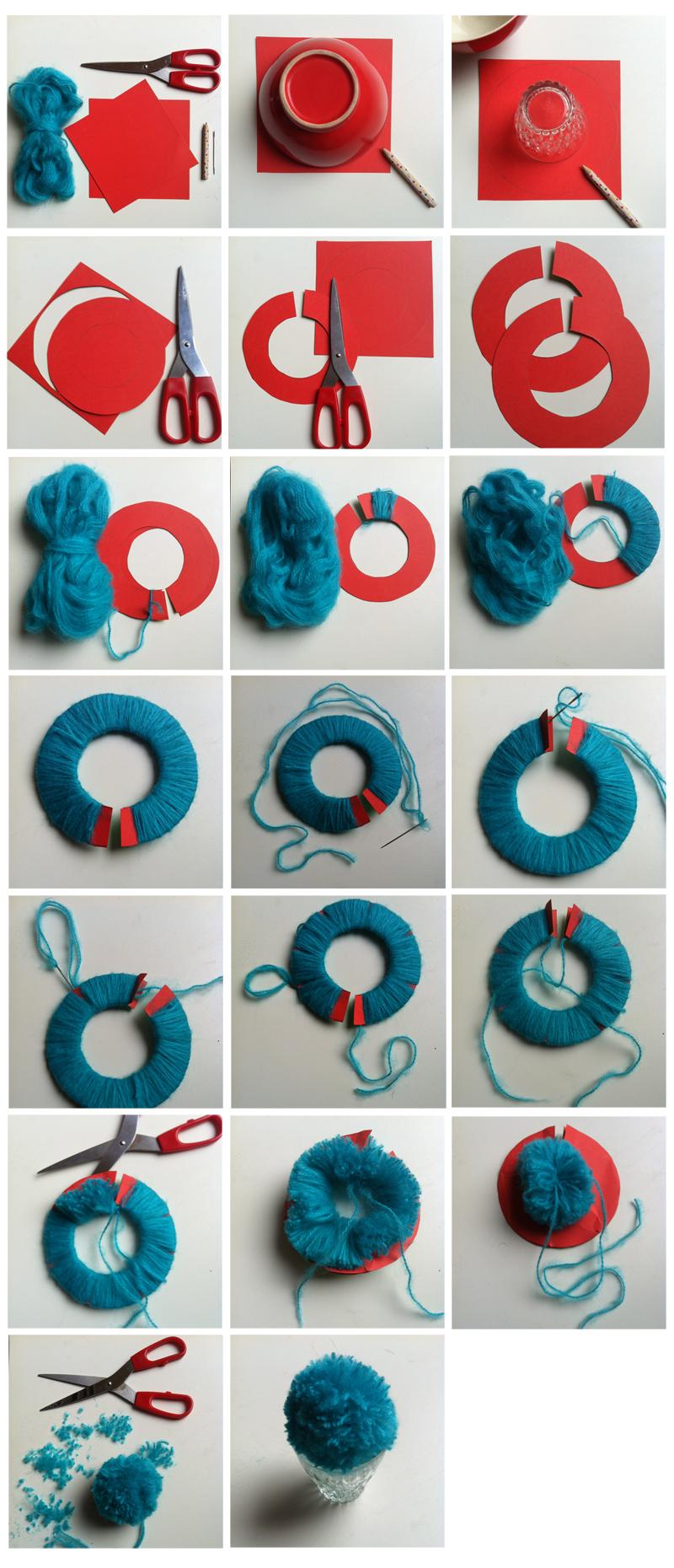 tricoter un pompon activit enfants pinterest. Black Bedroom Furniture Sets. Home Design Ideas