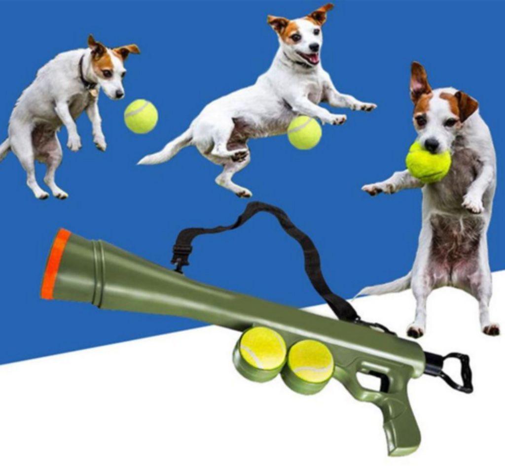Ball Bazooka Interactive Dog Toy Dog Pets Ball Tennis Ball Dog Tennis Ball Launcher Dog Toys Ball Launcher