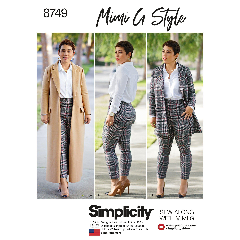 Simplicity Pattern 1283 Ms MIMI G STYLE Unlined Jacket~Knit Top~Pants /& Skirt