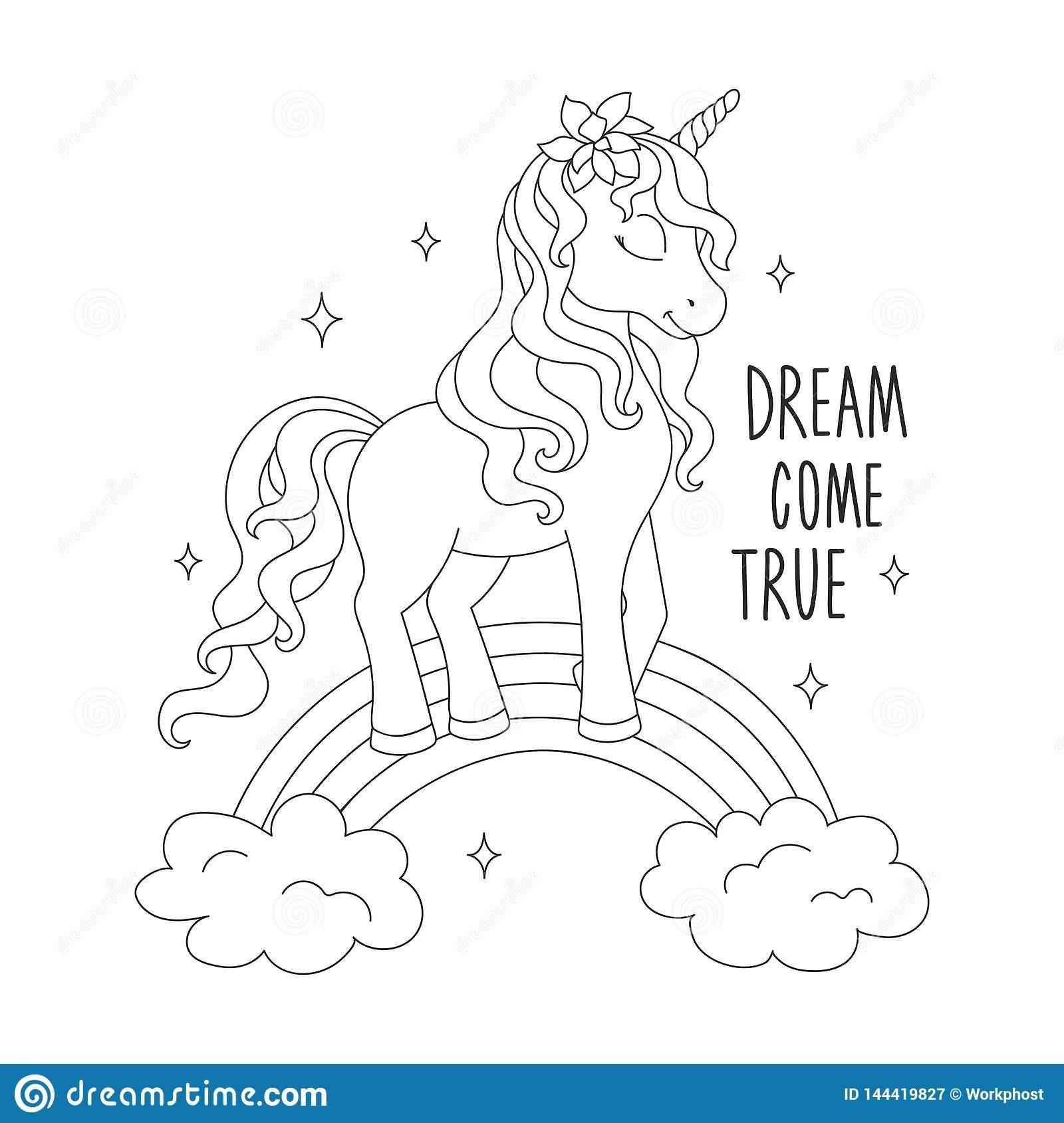 18 Coloring Page Unicorn Rainbow   Unicorn coloring pages, Coloring ...
