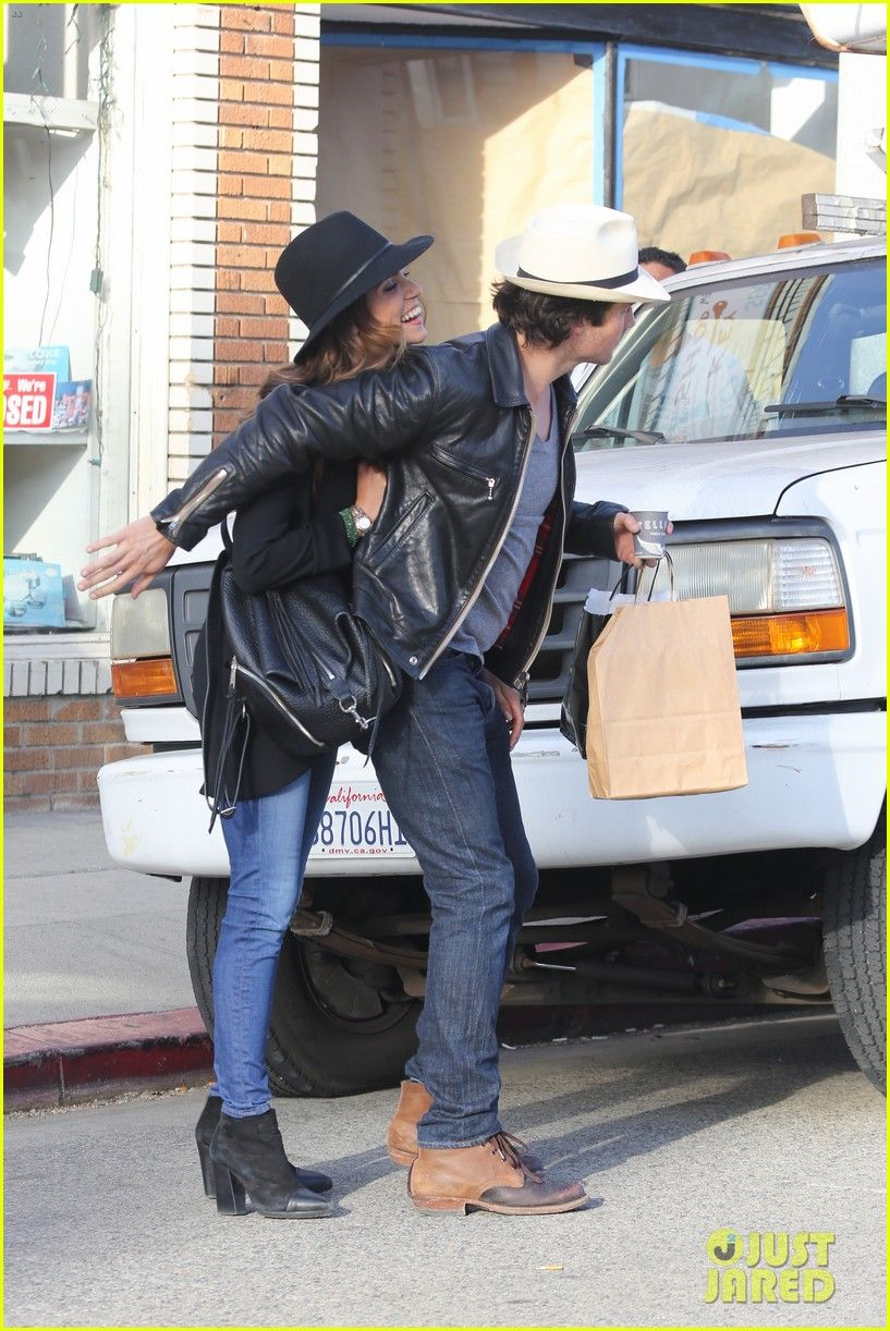 Ian Somerhalder & Nikki Reed Share Passionate Kiss During Venice Outing | Ian Somerhalder, Nikki Reed Photos | Just Jared