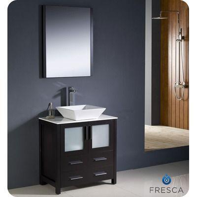 Fresca Torino 30 Modern Bathroom Vanity With Vessel Sink Single
