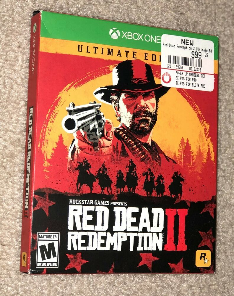 Xbox One Red Dead Redemption 2 Ultimate Edition Video Game New Steelbook Msft Reddeadredemption Gaming Xbox One Video Games Xbox One Red Dead Redemption Ii