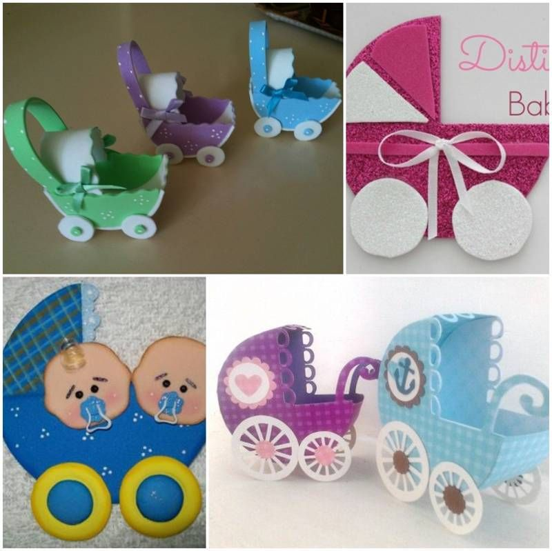 Coches Para Baby Shower En Foami