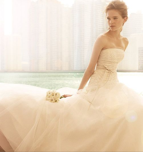 Awesome vera wang vw fern embroidery white collection wedding dresses