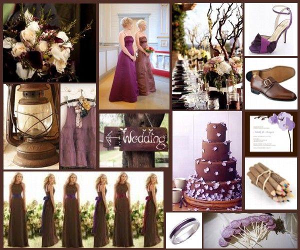 brown & purple wedding | Spring Gorrell Wedding | Pinterest | A well ...