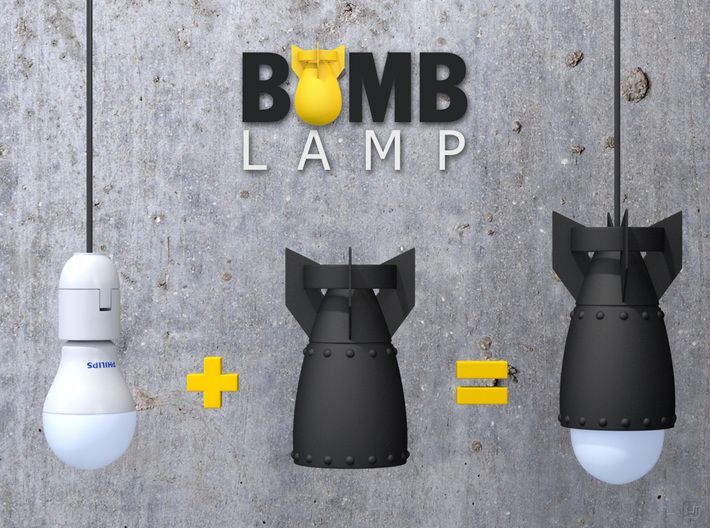 Bomb Lamp By Urbanorodriguez On Game Room Lighting Cool Lamps Lamp