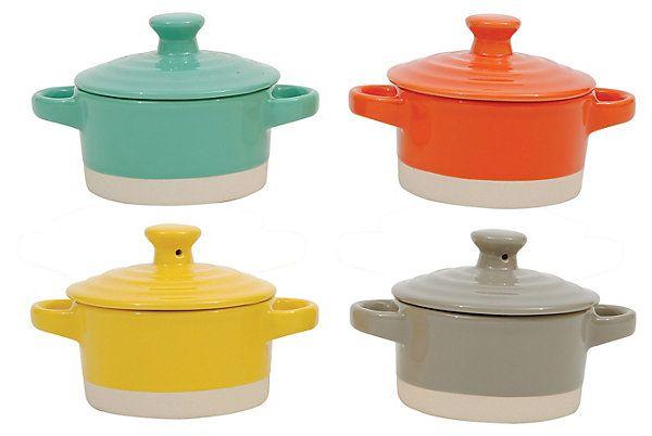 "Round Stoneware Mini Bakers, 3.25"" | Refresh for Spring | One Kings Lane"