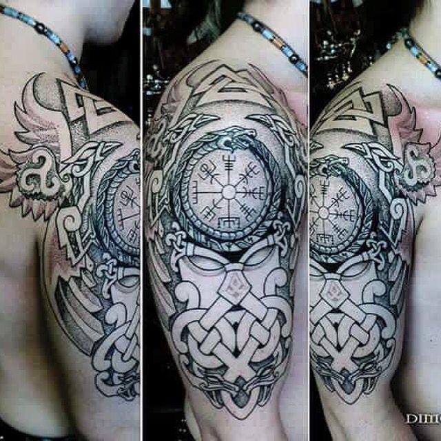 Nice tattoo trends norse sleeve top tattoo designs 2017 pinterest id e tatouage - Tatouage rune viking ...