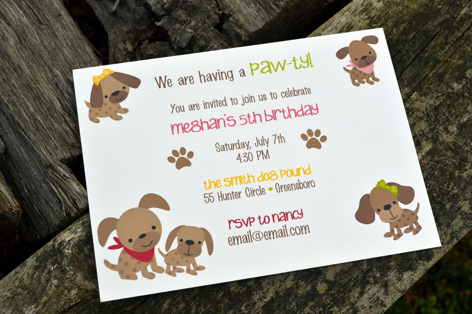 puppy party | puppy birthday party invitations free for your party ...