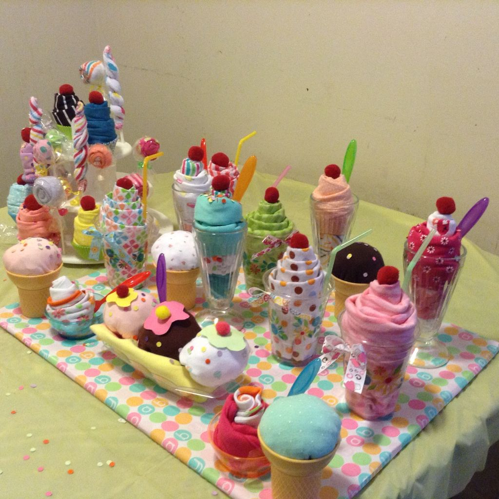 "Baby Shower ""milkshake"" Diaper Cake Alternative 1 cup"