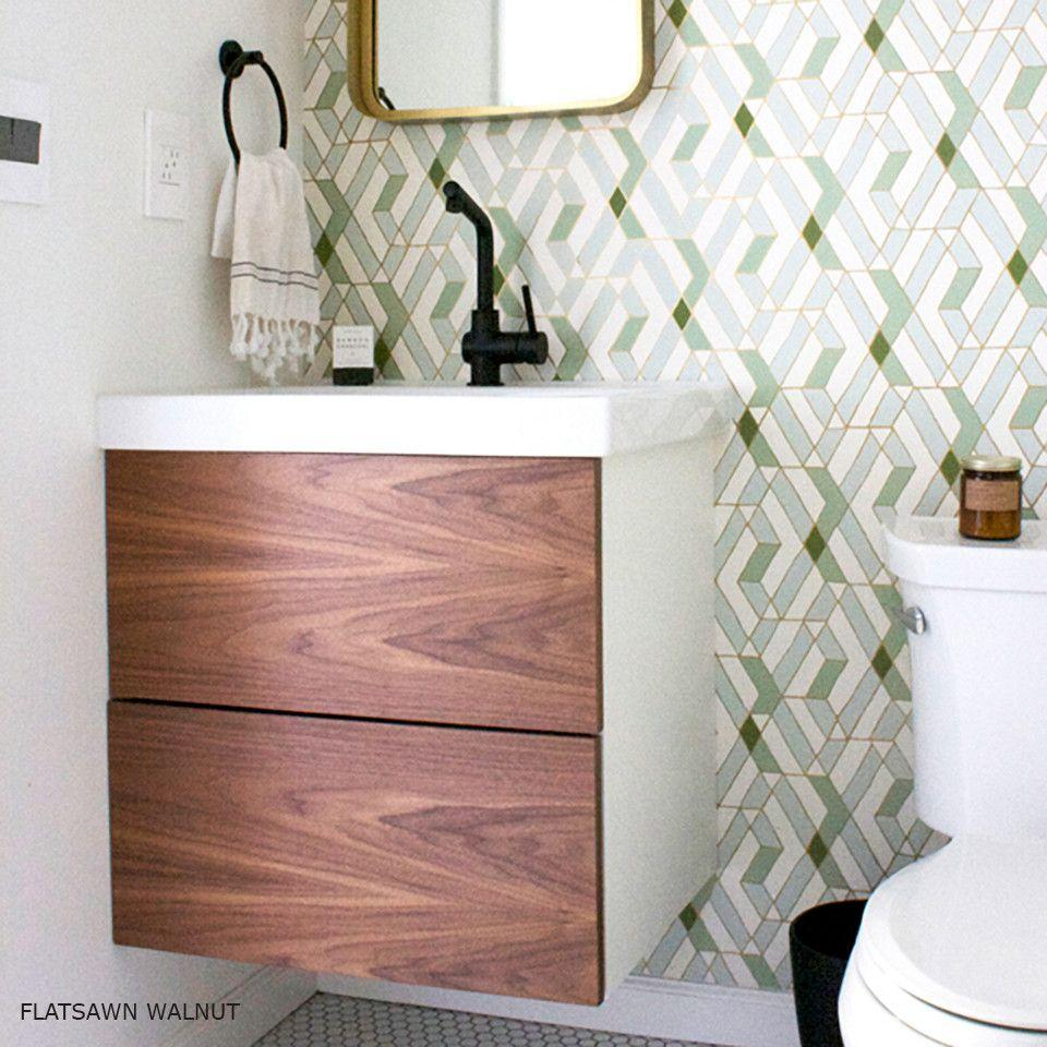 Godmorgon Sink Cabinet By Ikea With Wooden Doors Ikea Godmorgon Ikea Vanity Ikea Bathroom Vanity