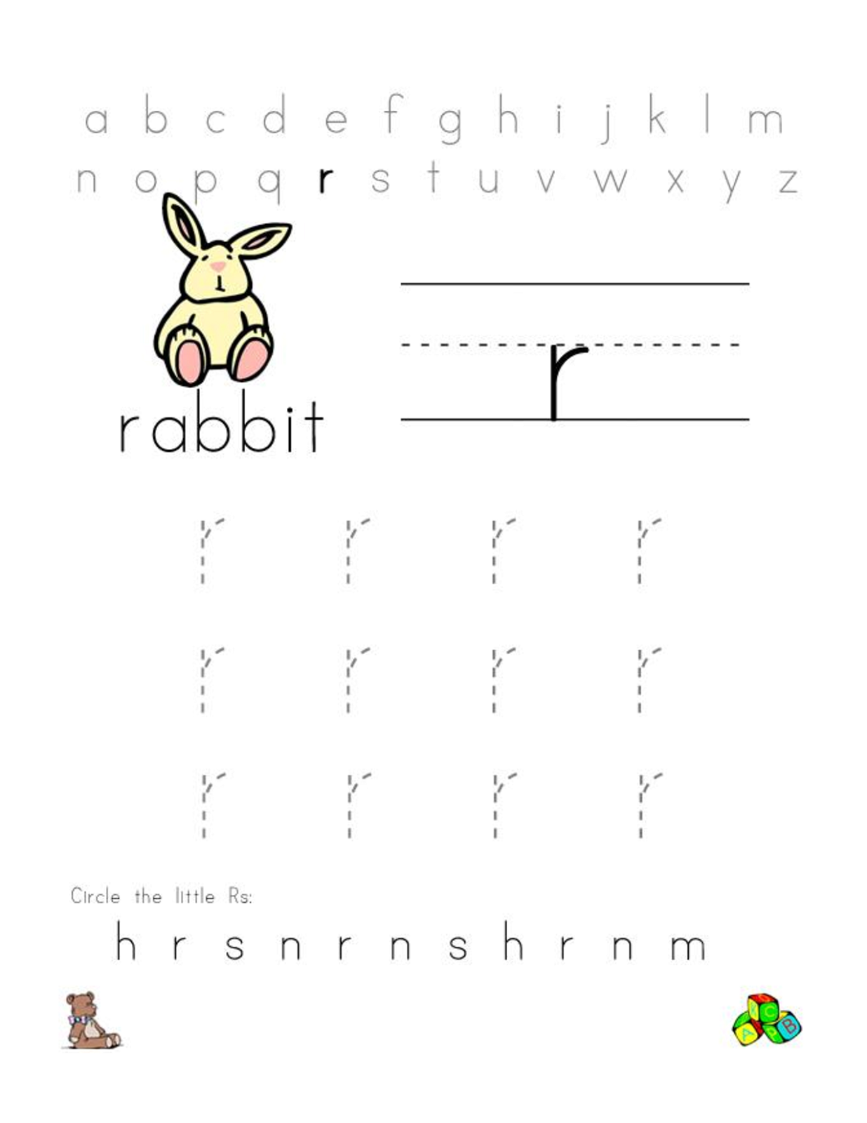 Free Alphabet Worksheets for the Beginners | Kiddo Shelter ...