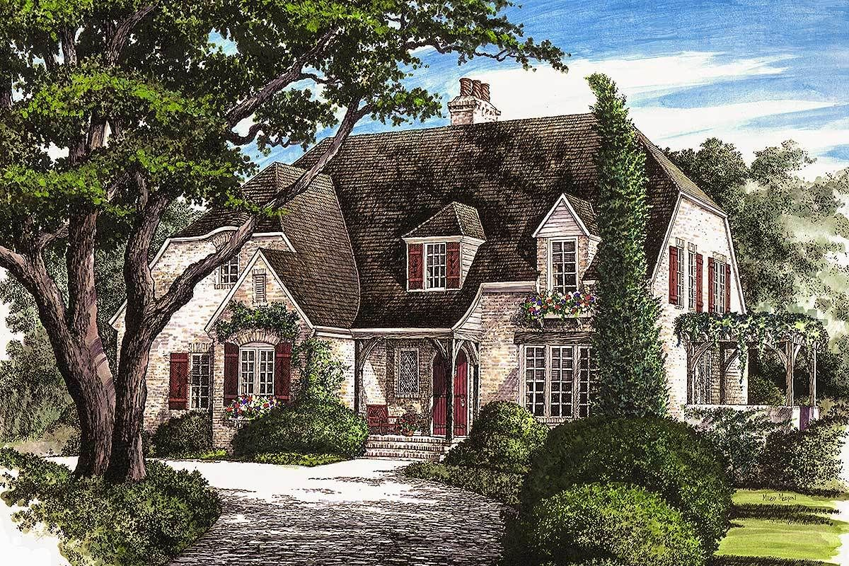 Elegant French Country Home 32431WP