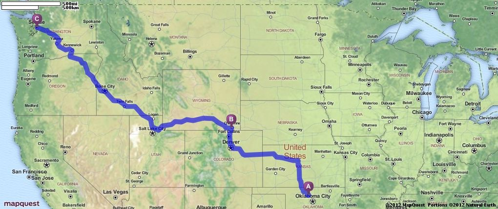 Driving Directions From Enid Oklahoma To Seattle Washington
