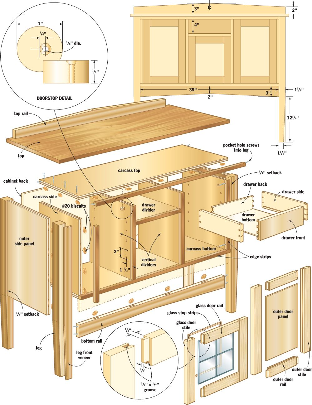 Easy Mission Sideboard Build It Pinterest Woodworking