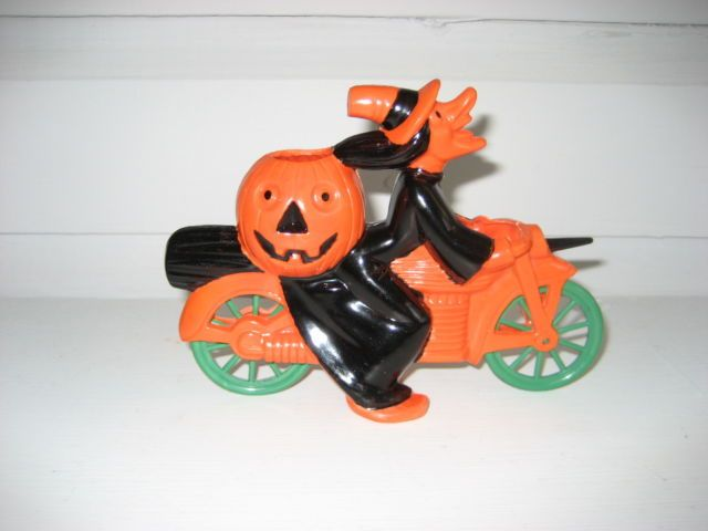 rosbro witch on motorcycle vintage halloween decoration vintage halloween decorations ebay