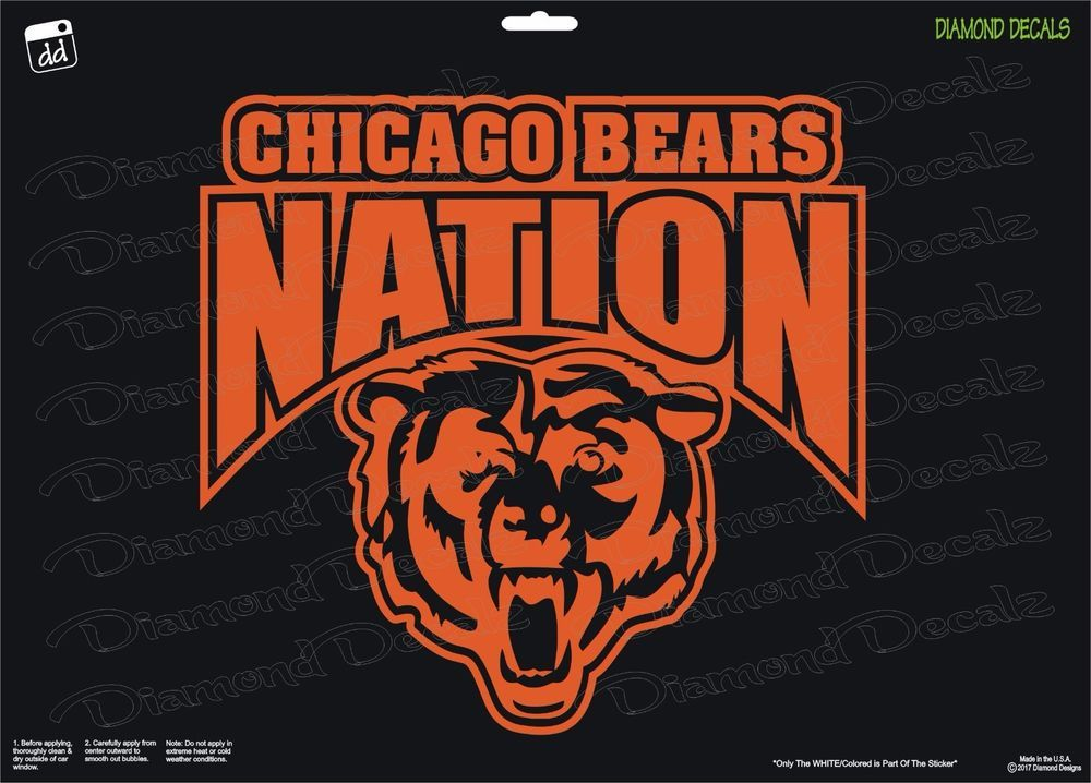 Chicago Bears Nation Shield Arch NFL Football Vinyl Decal Car - Window stickers for cars chicago