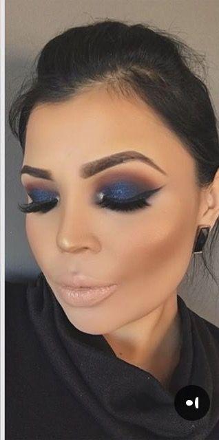 Pin By Krystal K On Makeup Inspo Navy Eye Makeup Navy Blue