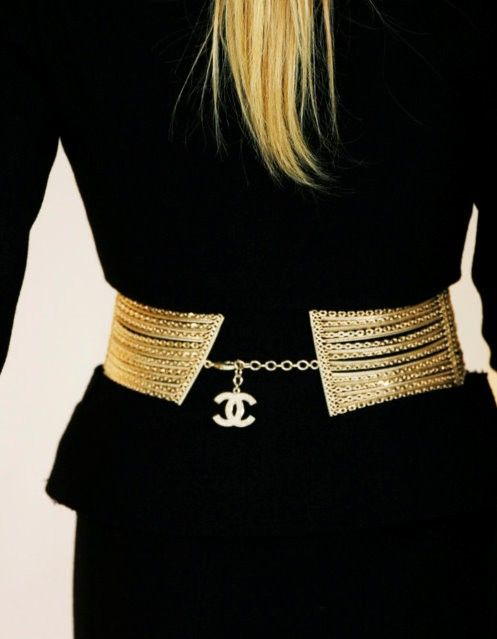 Gold Chanel Belt........pinned by www.limondulce.com
