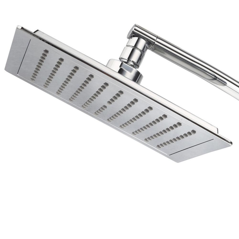 Null Mega Size 9 In Square Rainfall Showerhead 1 Spray In