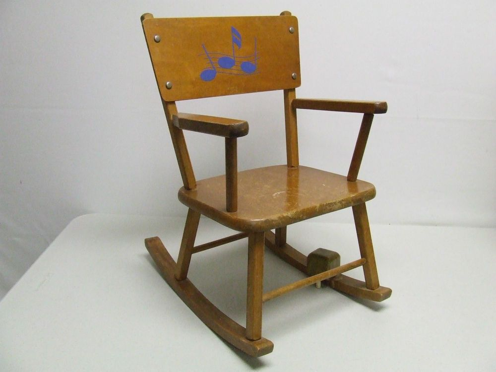 Vintage Baby Musical Children S Rocking Chair Quot Rock A