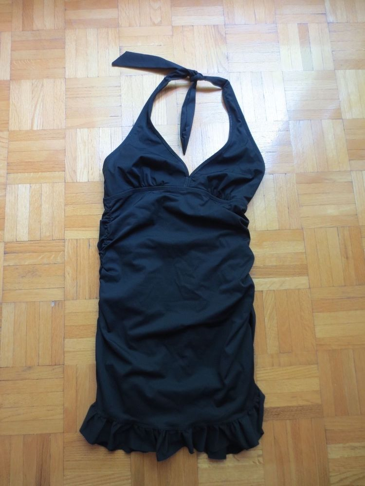 26ed86acc70 Spanx LoveYourAssets Black Bathing Suit S Swimdress One Piece Black Halter  Pads #SPANX #OnePiece