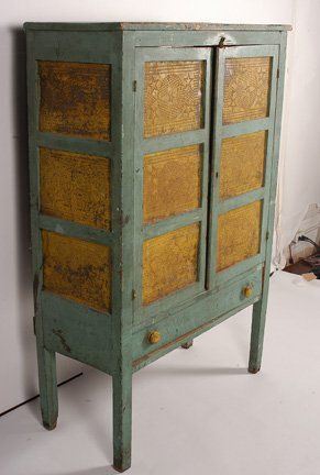 119: Punched Tin Pie Safe. : Lot 119