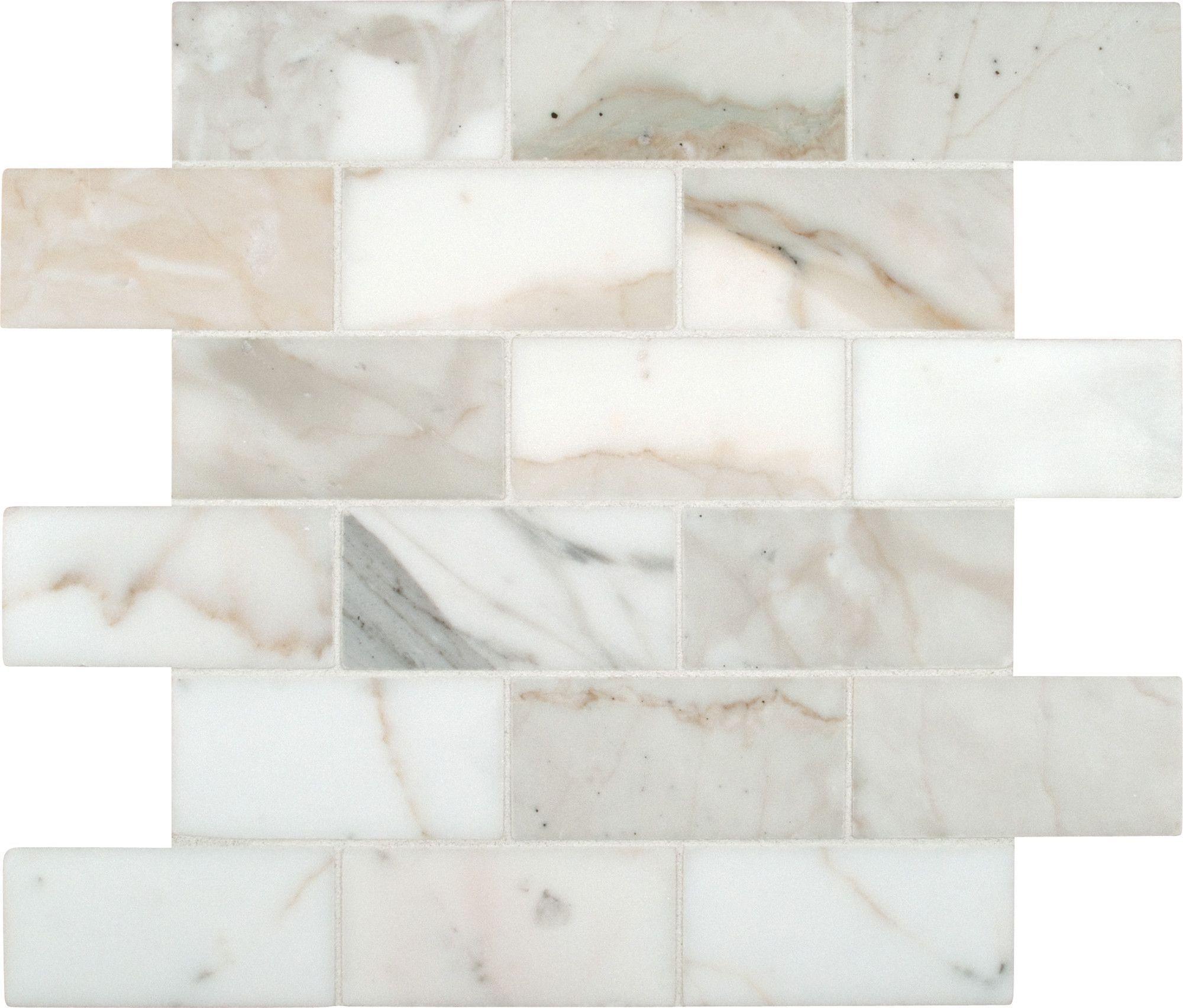 Calacatta Gold 2 X 4 Marble Mosaic Tile Calacatta Gold Marble