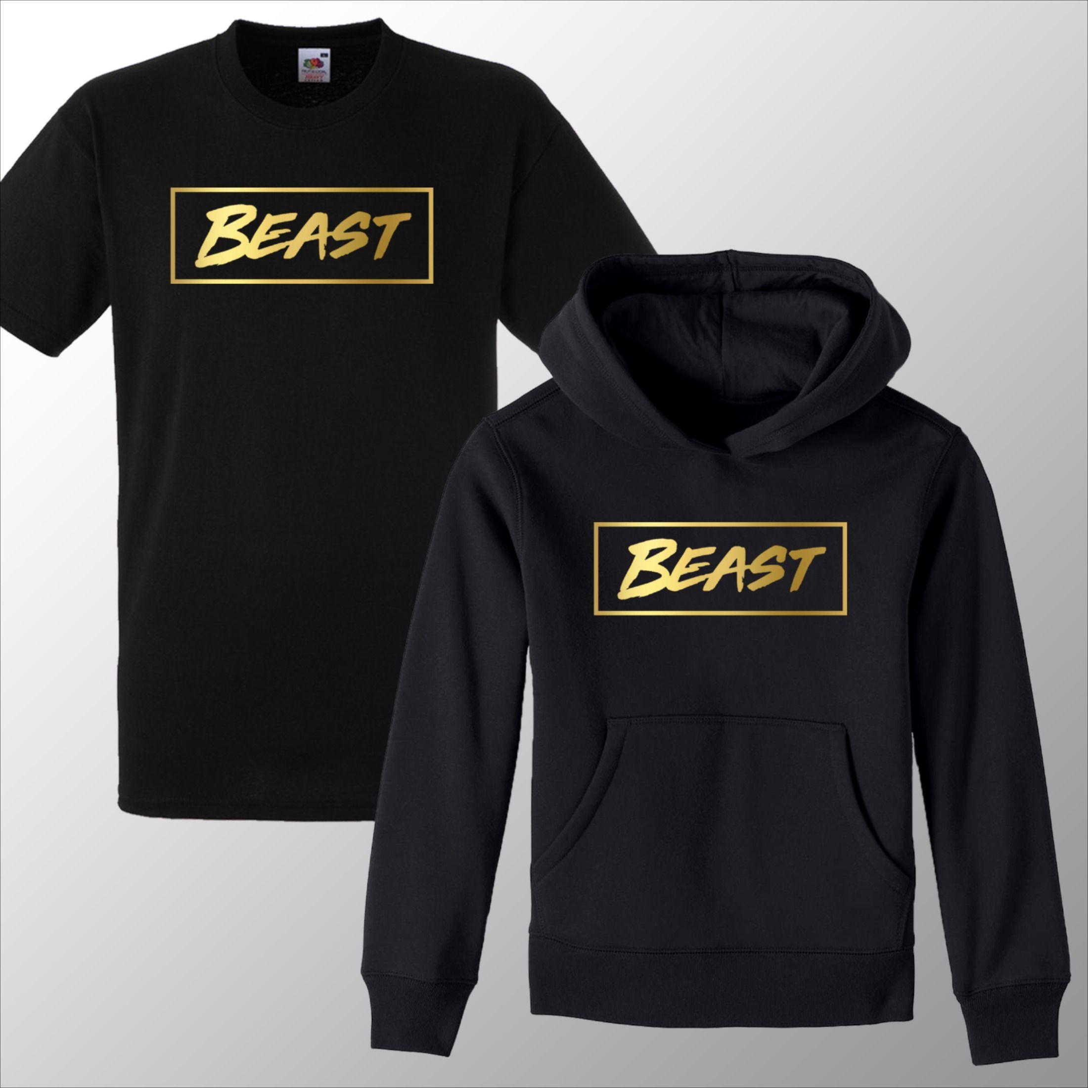 Mr Beast Hoody Youtuber Beast Hoodie Pullover Kids Adults UNISEX Black