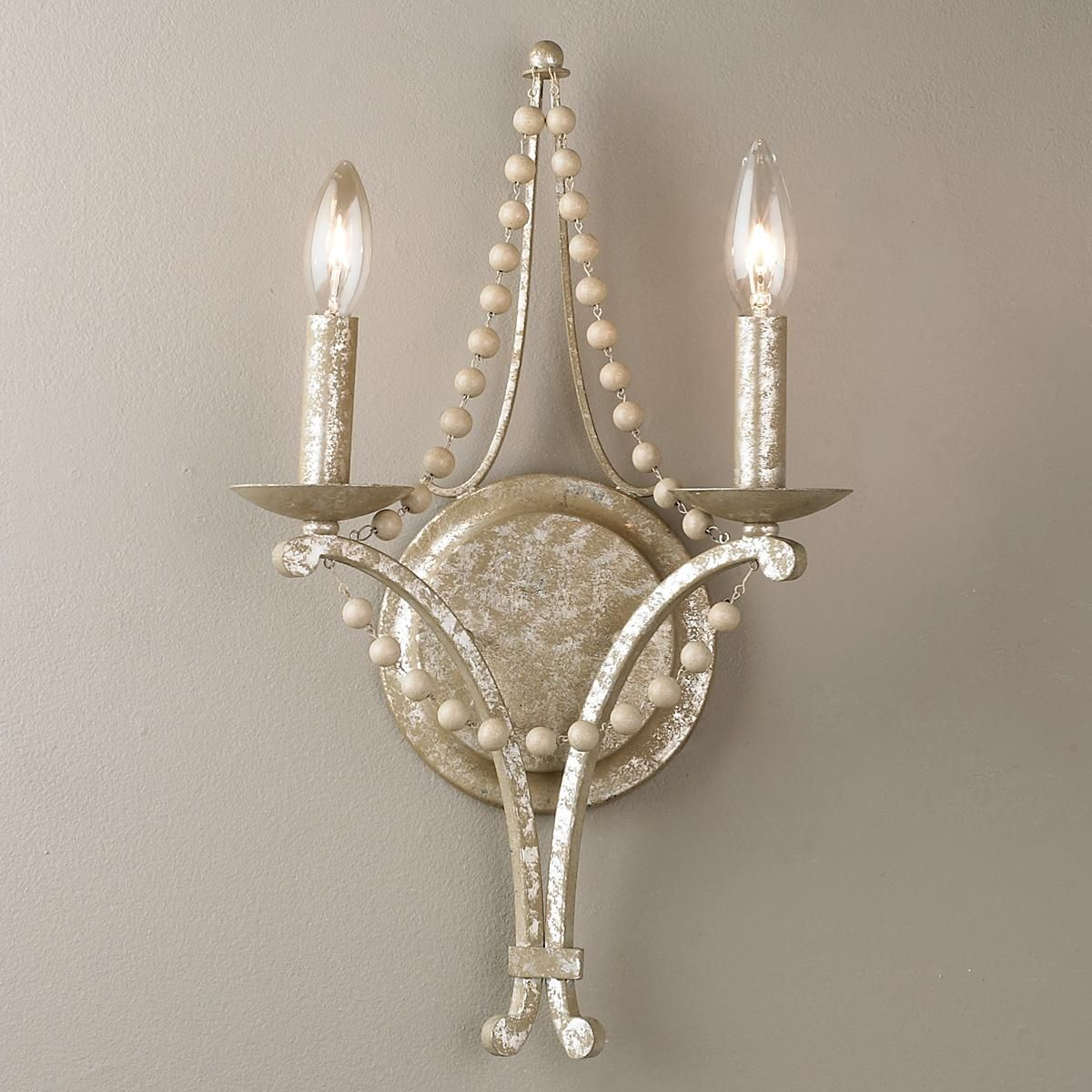 Beaded Elegance Wall Sconce 2 Light Wall Sconces Living Room Unique Wall Sconce Indoor Wall Sconces