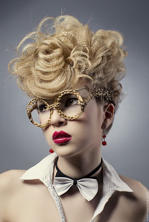 30d07f7eb3c Micro-crimped texture & braided glasses?! #hairspiration | hair in ...