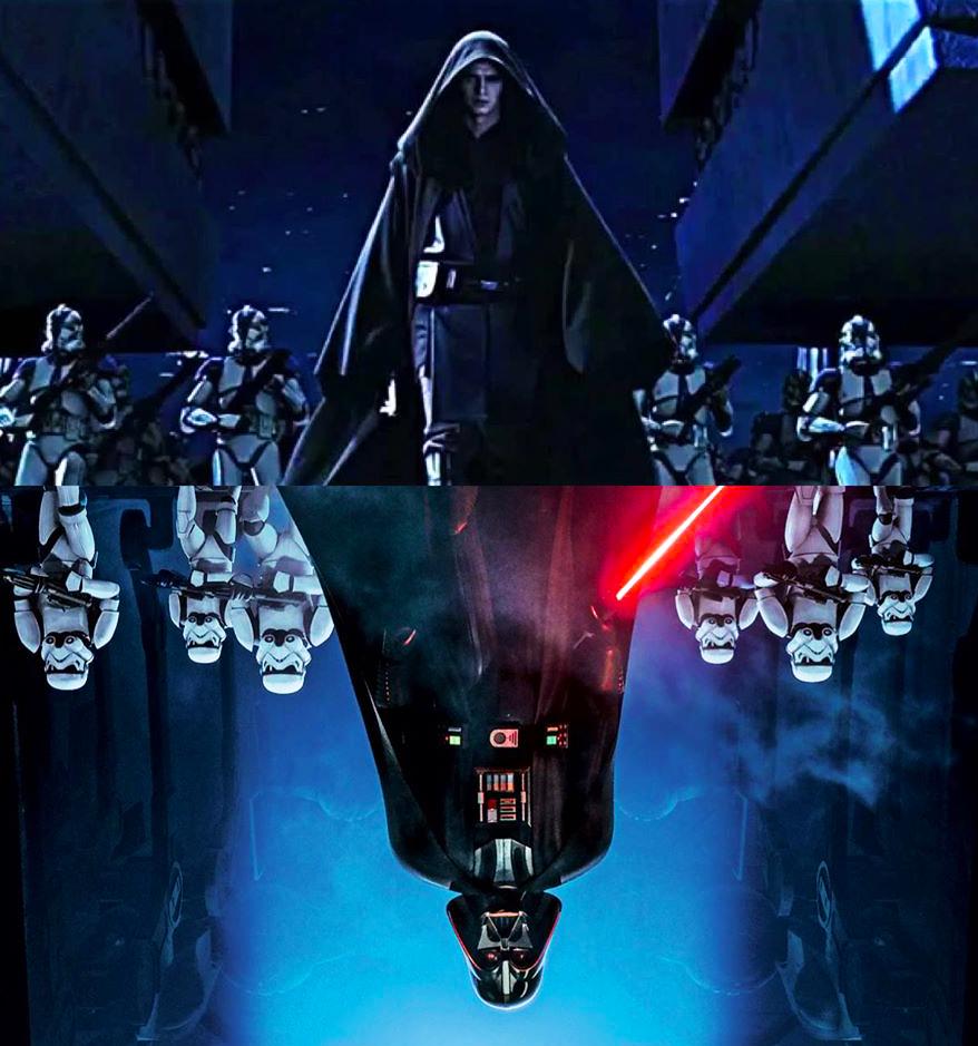 My Edit Darth Vader And Anakin Reflective Shot Starwars Myedit Star Wars Background Star Wars Pictures Star Wars Images