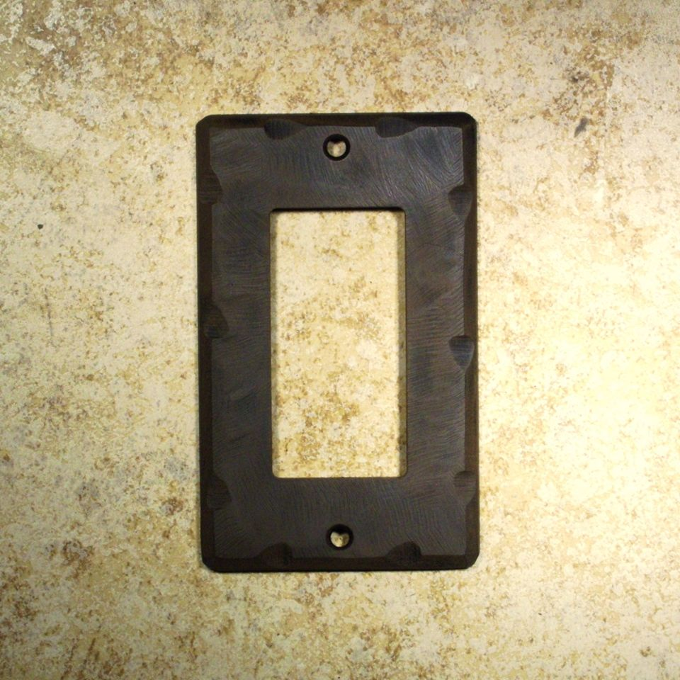Kitchen Switch Plates Tuscan Mission Bronze Copper Style Rustic Wall Duplex Outlet